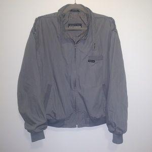 Vintage Men's Members Only Grey Racer Jacket